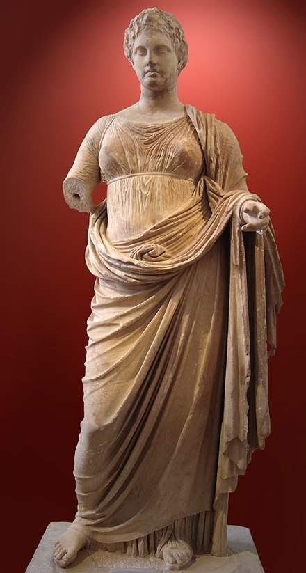Themis of Rhamnous , Attica, by the sculptor Chairestratos, c. 300 BCE