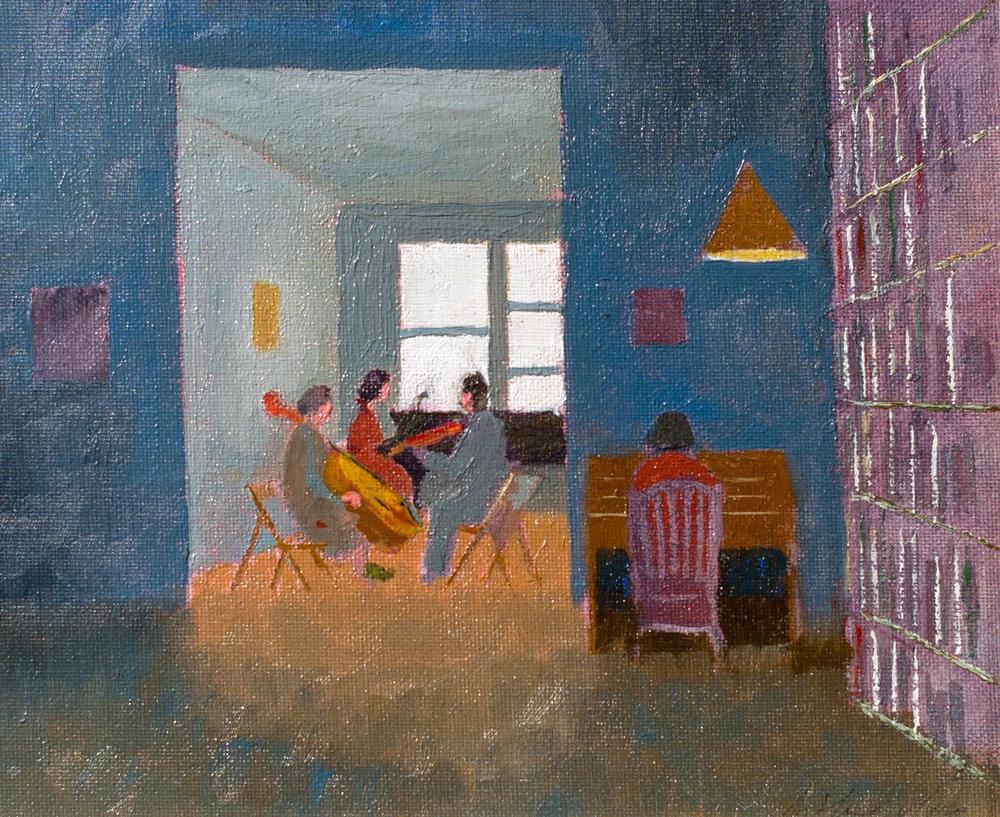 """""""Elizabeth 2002'' (oil on board) by Arthur Cohen, at the Berta Walker Gallery, Provincetown."""