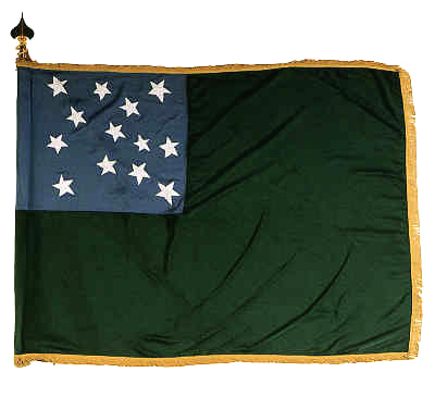 Flag of the Revolutionary War's Green Mountain Boys.