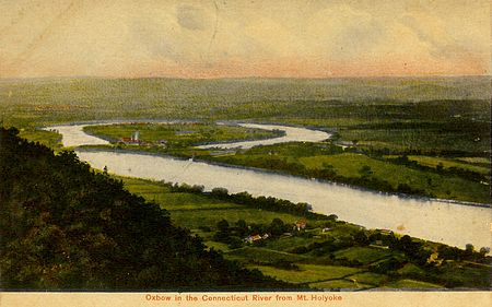 The Oxbow of the Connecticut River in Northampton, Mass., circa 1910.