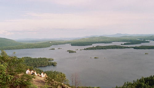 Overlooking Squam Lake.