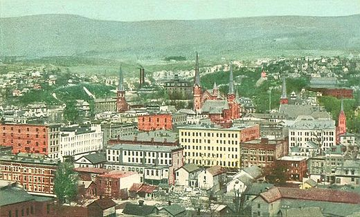 North Adams in 1905, during its industrial heyday.