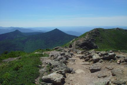 On the Franconia Ridge Trail, in the White Mountains.