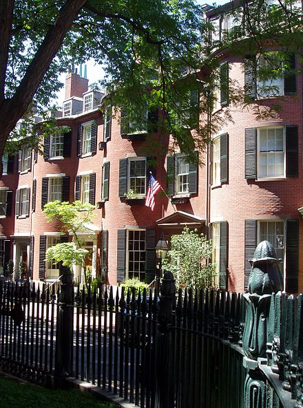 At Louisburg Square, on Boston's Beacon Hill, a center of old monied New England families.