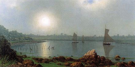 """York Harbor, Coast of Maine'' ( 1877),  by Martin Johnson Heade."