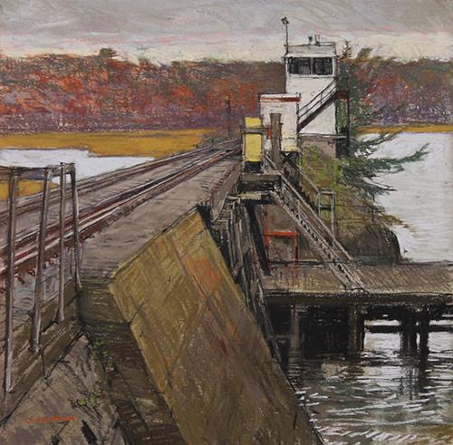 """From Jeff Weaver's show, """"Works on Paper,'' at the North Shore Art Association, Gloucester, July 27-Aug. 18."""