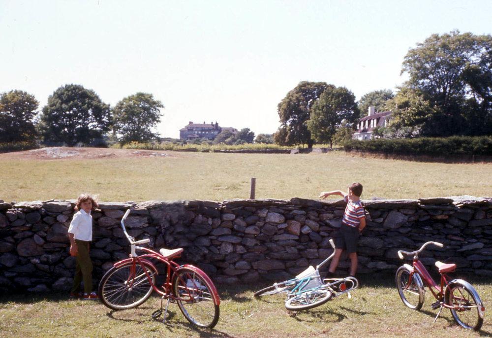 Stone wall near Hammersmith Farm, Newport, R.I.    --Photo by JG Klein