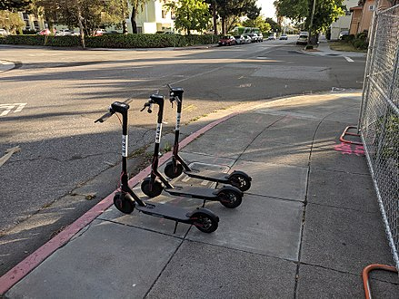 Bird electric scooters, being used in Providence and other cities.
