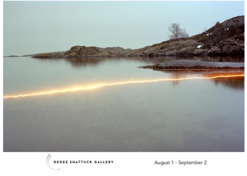 "From Ole Brodersen's show ""Trepassing: Photographs from Lyngor, Norway''. The Dedee Shattuck Gallery is in Westport, Mass.     The gallery says:    ""Following 11 generations before him, Ole Brodersen (born 1981) grew up on the small island of Lyngør, Norway, with no cars and about 100 inhabitants.  Ole's father is a sail maker, his grandfather a sailor. He has spent most of his life close to the ocean, in constant company of the elements.     ""The series of photographs in 'Trespassing' explore of the landscape and the natural forces that animate it.''"