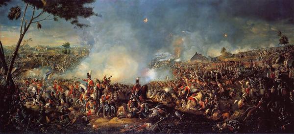 """""""Battle of Waterloo"""" (1815), by William Sadler."""
