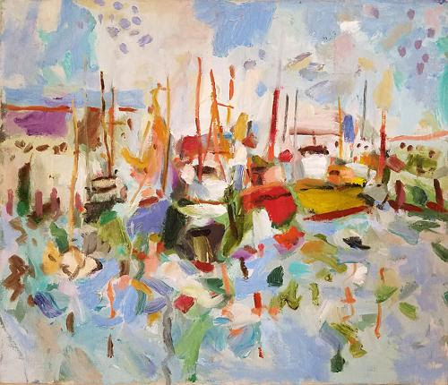 "Z. Jankowski, ""Chunky Boats'', by Z Jankowski, at the ""Third Summer Show'', at the Rockport Art Assoociation and Museum, through Aug. 20."