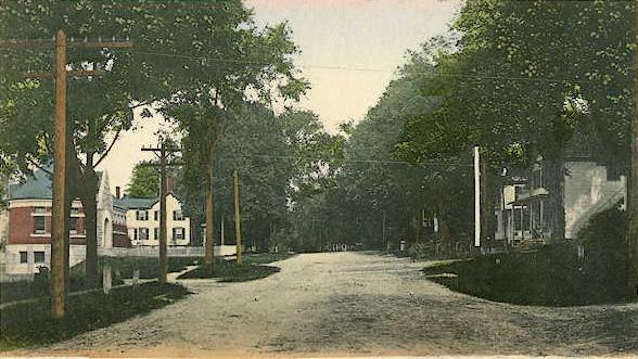 Main Street in Warner, N.H. about 1908.