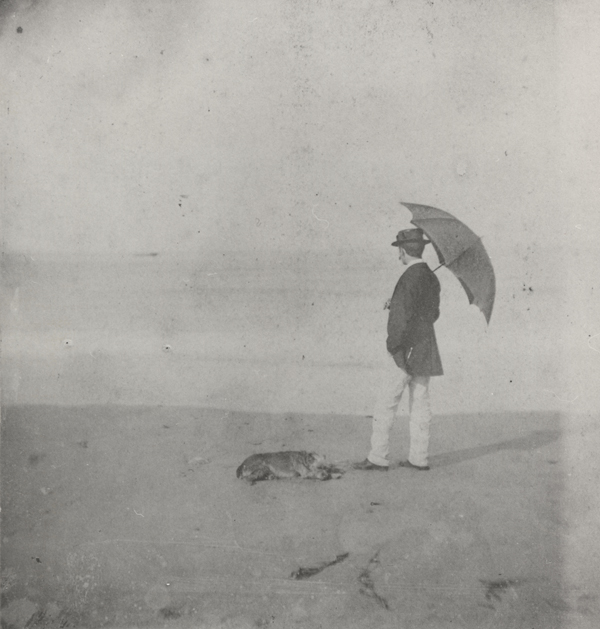 """""""Winslow Homer at Marshfield {Mass.}, """" ca. 1869 (albumen silver print), by an unknown photographer. Bowdoin College Museum of Art, Brunswick, Maine. This is in the show """"Winslow Homer and the Camera: Photography and the Art of Painting,'' through Oct. 28. The museum building is famous, having be designed by Charles McKim, who also designed the Rhode Island State House and much of Columbia University."""