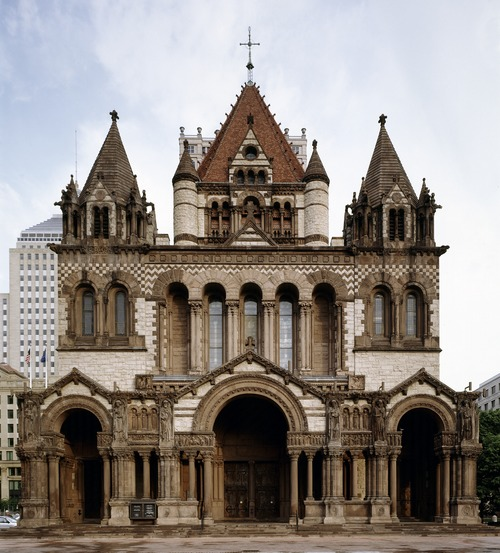 Boston's famed Trinity Church, on Copley Square.
