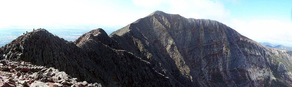 "Mt. Katahdin (5 ,267 feet high), in Baxter State Park, Maine. The park was a gift to the people of Maine from Gov.  Percival P. Baxter , who used his personal wealth over a 32-year period to buy and donate the original 201,018 acres of the park, starting with a 6,000-acre purchase in 1930 from the  Great Northern Paper Co . Since Governor Baxter's death, in 1969, the park has been expanded to a total of 209,501 acres, including the 2006 addition of a parcel of 4,678 acres. The park includes gorgeous Katahdin Lake. Hiking along the  famous ""Knife Edge'' of the mountain is not for the faint of heart."