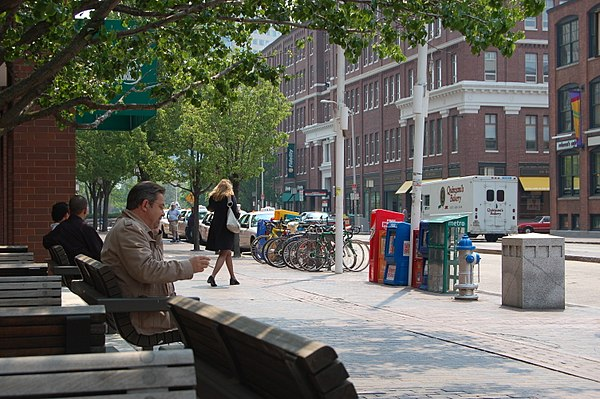 At Kendall Square, in Cambridge.