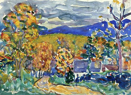 """Autumn in New England,'' by Maurice Prendergast."