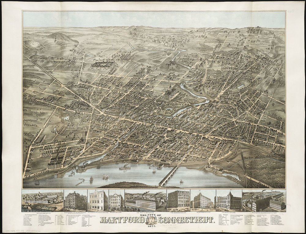 Hartford in 1877, as the nation came out of depression and the Industrial Revolution roared, especially in southern New England.