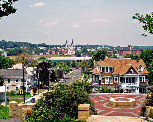Looking north from Walnut Hill Mansion, in New Britain, where the distinguished poet Constance Carrier (1908-91) taught for many years at New Britain High School, most notably Latin.