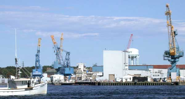 Portsmouth Naval Shipyard, which is actually in Kittery, Maine.