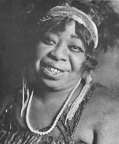 "Blues singer  Ma Rainey  (1886–1939), the ""Mother of the Blues"""