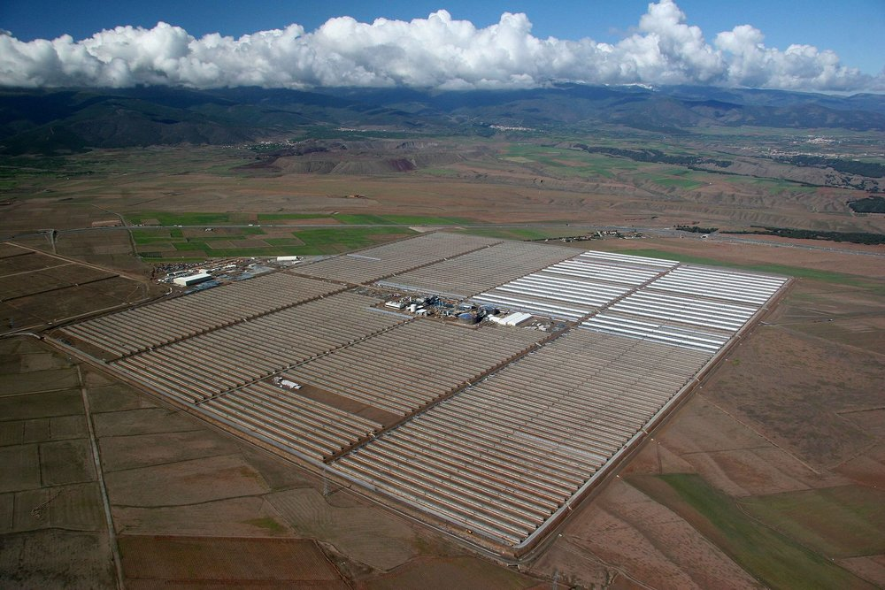 Solar-energy facility in Andalusia, Spain.    -- Photo by BSMPS