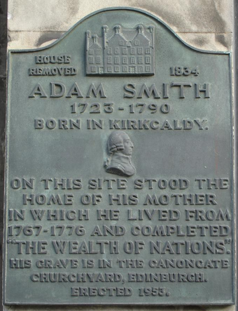 Marker in Kirkcaldy, Scotland.