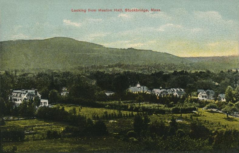 Colorized postcard of Stockbridge made in the early 20th Century.