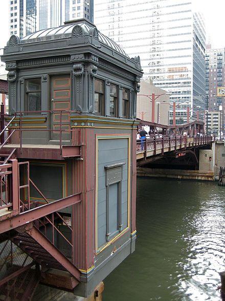 Bridge tender's house in Chicago.