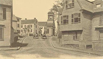 Marblehead houses at the turn of the 20th Century.