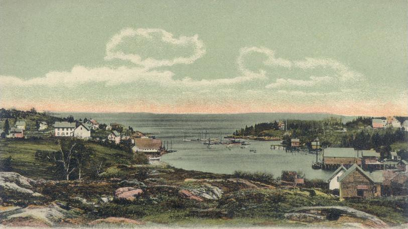 New Harbor, Bristol, Maine, about 1905.