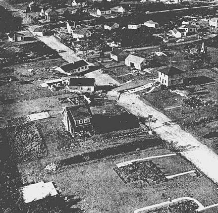 Damage in Westerly, R.I., from Hurricane Carol, which struck on Aug. 31, 1954.
