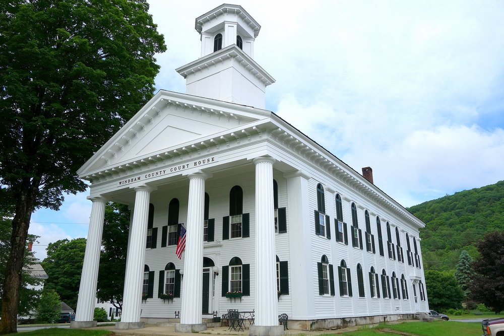 The Windham County Court House, in Newfane, Vt.    — Photo by Daderot