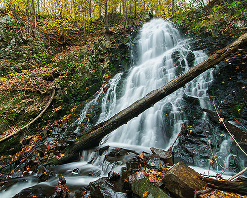 Roaring Brook Falls, in Cheshire, as seen in late October.