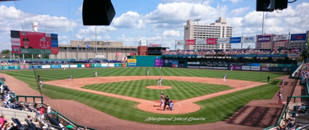 The fiscal disaster known as Dunkin' Donuts Park, in Hartford, opened in 2017 and home of the Hartford Yard Goats.