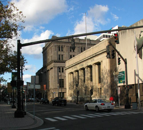 Street scene in Bridgeport, once a thriving industrial town and still, despite its many woes, Connecticut's largest city.
