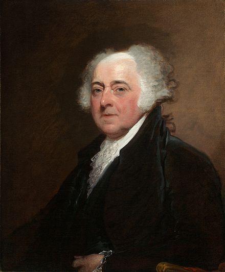 John Adams, in an 1815 painting by Gilbert Stuart.