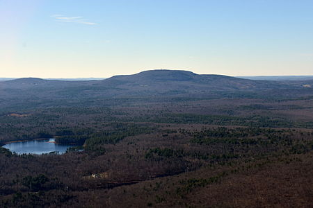 Mt Wachusett, in central Massachusetts, and at 2006 feet high the highest point in the state east of the Connecticut. River.