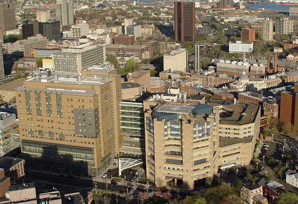 Yale New Haven Hospital, the main clinical teaching facility of the Yale Medical School.