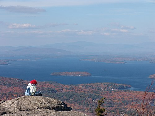 Lake Winnipesaukee, from the top of Mt. Major.