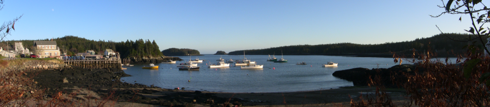 The harbor of Cutler, Maine, in late fall. The tiny town is way Downeast.