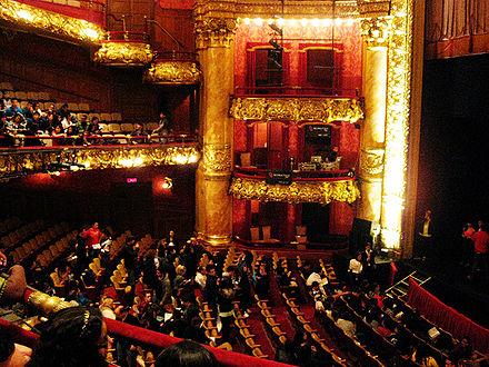 Inside the Colonial Theatre, in Boston.
