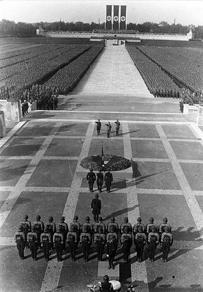 At the Nazis' 1934 Nuremberg Rally.