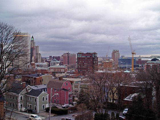 View of Providence from College Hill.
