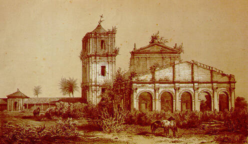 Ruins of the church at    São Miguel das Missões   , Rio Grande do Sul, Brazil, one of the missions that ministered to the Guarani tribe.