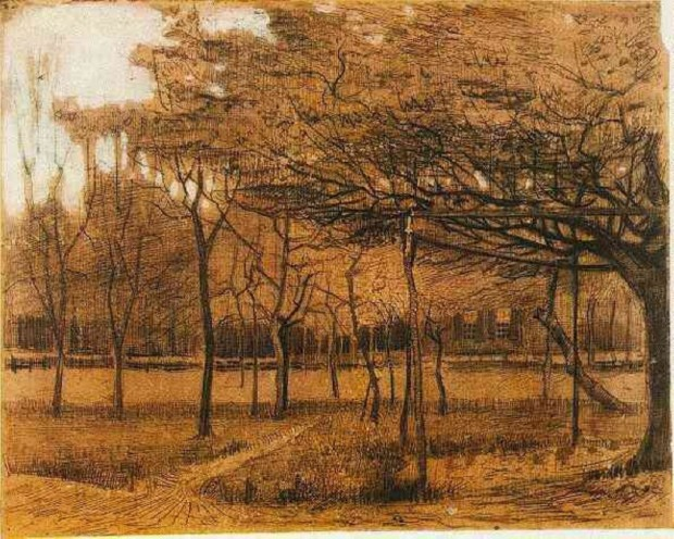 """Landscape With Trees,'' by Vincent van Gogh"