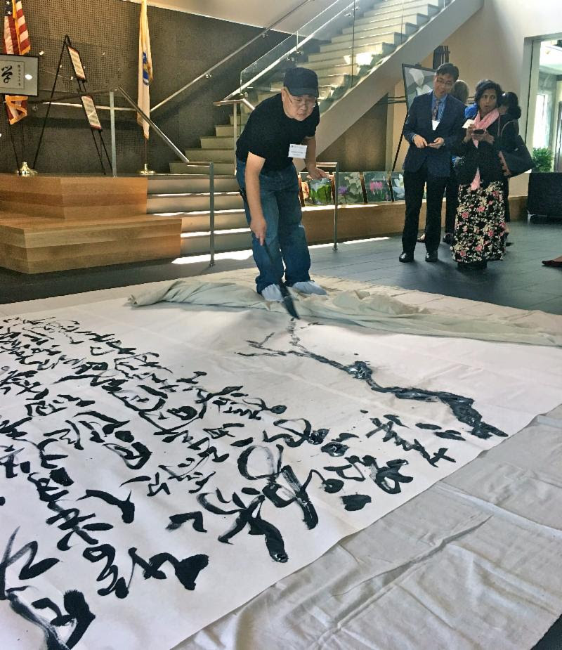 On Sunday Nov. 18 at noon, Quanzhou (aka Jack) Zhao will give a calligraphy demonstration at Boston Sculptors Gallery.        Calligraphy Demonstration      with Quanzhou (Jack) Zhao