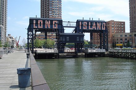 "On the waterfront of the Long Island City part of New York City. It's the flood-prone area where Amazon will put one of its ""Second Headquarters.''"