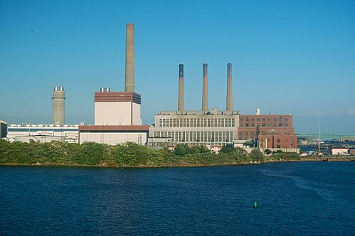 Mystic Generating Station, in Everett, Mass. It burns oil and natural gas.
