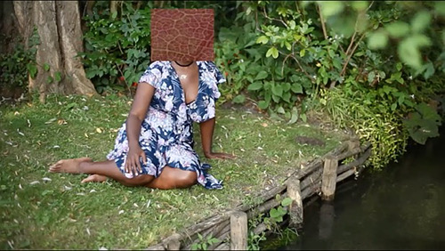 """Giverny I (Negresse Imperiale)'' (film still), in the show ""A Litany for Survival'' through Jan. 27 at Boston University's Faye G., Jo and James Stone Gallery. The show is meant to reveal and explore an aspect of black identity."
